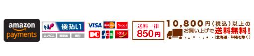 送料一律600円/お届け先ごとに10,800円(税込)以上のお買い上げで送料無料!